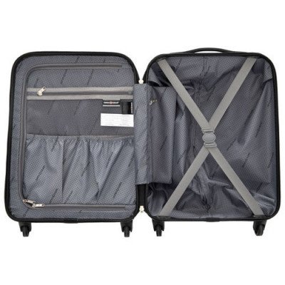 "swissgear extravagence 20"" hard side carry-on luggage - charcoal-2"