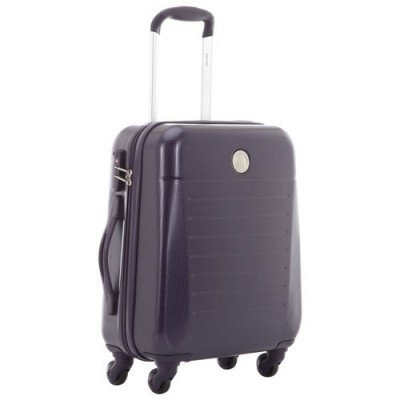 """delsey concorde 2 19"""" hard side 4-wheeled carry-on luggage - purple"""
