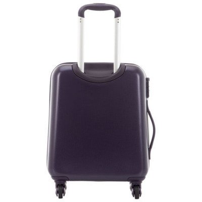"""delsey concorde 2 19"""" hard side 4-wheeled carry-on luggage - purple-3"""