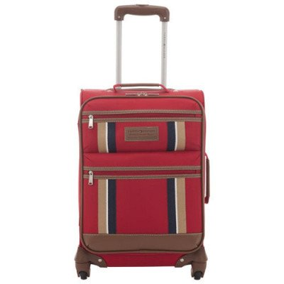"tommy hilfiger scout 4.0 21"" soft side expandable carry-on luggage - red-1"