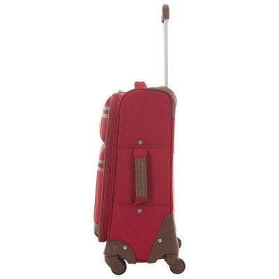 "tommy hilfiger scout 4.0 21"" soft side expandable carry-on luggage - red-2"