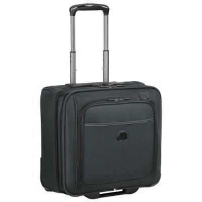 "delsey pilot 4.0 15"" soft side carry-on luggage - grey"
