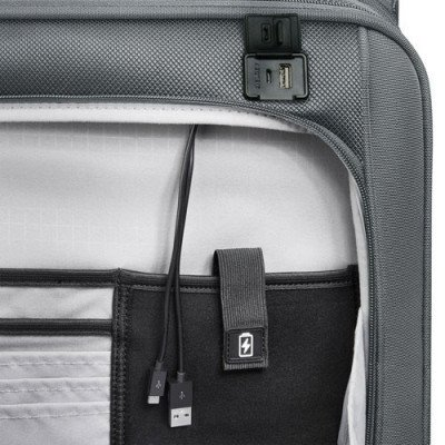 "delsey pilot 4.0 15"" soft side carry-on luggage - grey-3"