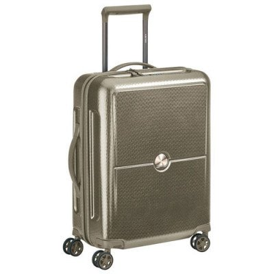 """delsey turenne 20"""" hard side carry-on luggage - champagne"""