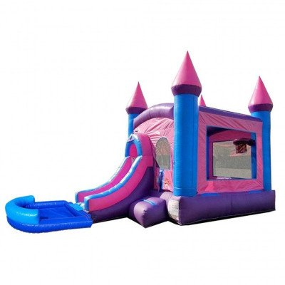 Pink Princess Wet-Dry Inflatable Combo With Pool picture 1