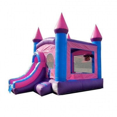 Pink Princess Wet-Dry Inflatable Combo With Pool picture 2