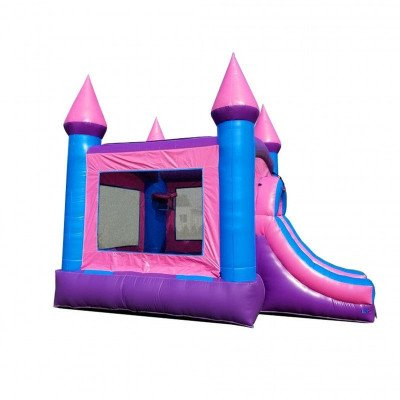 Pink Princess Wet-Dry Inflatable Combo With Pool picture 3