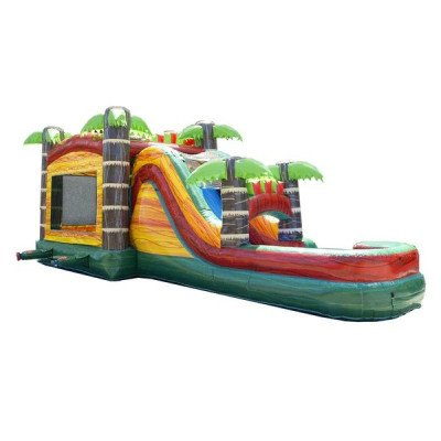 Mega Tropical Fire Marble Wet-Dry Inflatable Combo picture 2