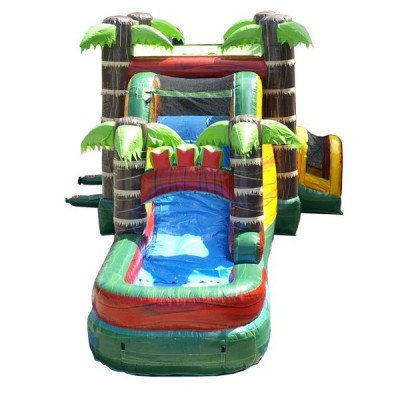 Mega Tropical Fire Marble Wet-Dry Inflatable Combo picture 3