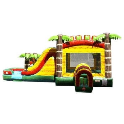 Mega Tropical Fire Marble Wet-Dry Inflatable Combo picture 4