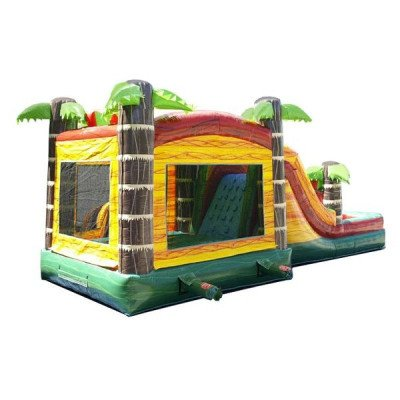 Mega Tropical Fire Marble Wet-Dry Inflatable Combo picture 5