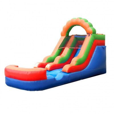 12' Rainbow Inflatable Wet-Dry Slide picture 1