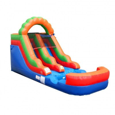 12' Rainbow Inflatable Wet-Dry Slide picture 2