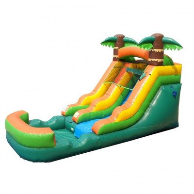 12' Tropical Inflatable Wet-Dry Slide picture 1