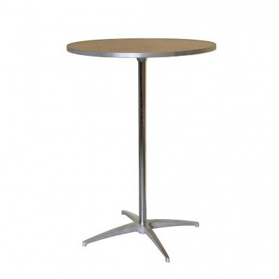 "30"" Round Wooden Cocktail-Bistro Table picture 1"