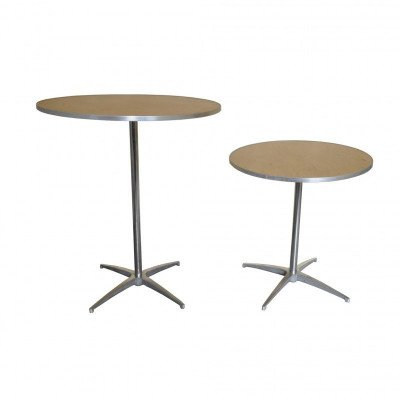 "30"" Round Wooden Cocktail-Bistro Table picture 3"