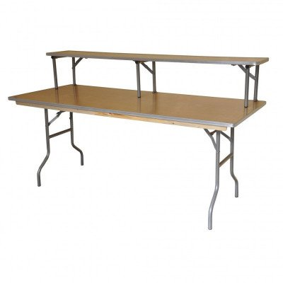 """6' X 12"""" Banquet Table Bar -Top Riser - Banquet Table Not Included picture 2"""