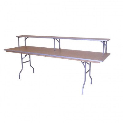 "8' X 30"" Rectangular Wooden Banquet Table picture 4"