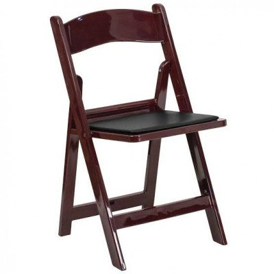 Mahogany Folding Resin Chair With Pad picture 1