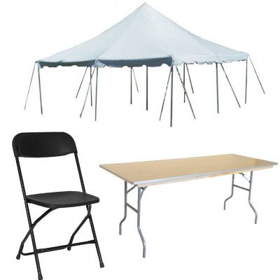 Party Package - Tables, Chairs, Tent - 40 Guests picture 1
