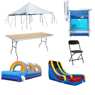 Party Package - Tables, Chairs, Tent, Inflatables, SnoCone picture 1