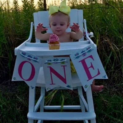 White Vintage Highchair picture 3