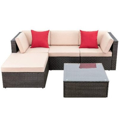 5 piece patio furniture set all weather picture 3