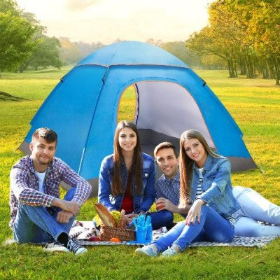 3 person tent for camping automatic pop up waterproof tent picture 1