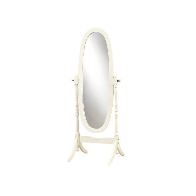 Wood-Framed Standing Oval Mirror picture 2