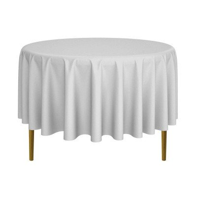 silver round tablecloth picture 1