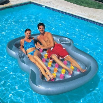 double pool lounger picture 1
