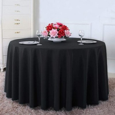 black round tablecloth picture 1