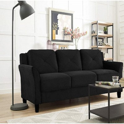 black sofa picture 1