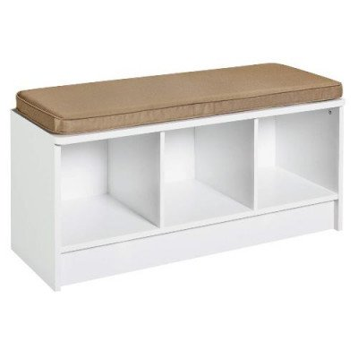 3-cube storage bench - white picture 2