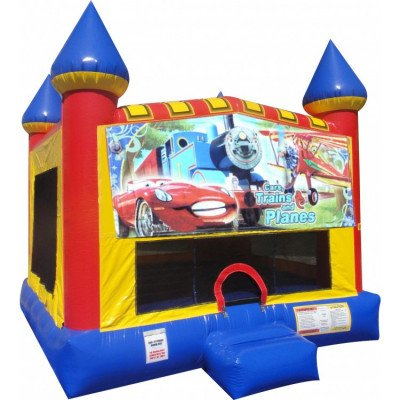 Cars, Planes and Trains Inflatable Castle Bouncer picture 1
