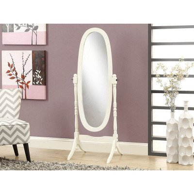 Wood-Framed Standing Oval Mirror picture 1