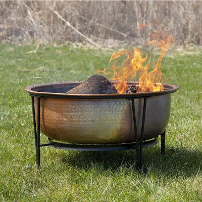 vintage copper fire pit picture 1