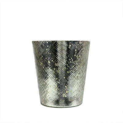 Silver Mercury Glass Votive picture 1