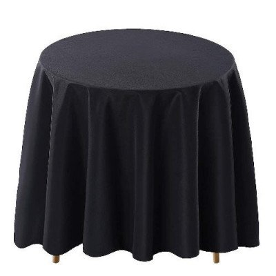 black round tablecloth picture 2