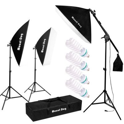 photography studio softbox lighting kit picture 2