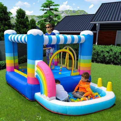 outdoor indoor inflatable bounce house-1