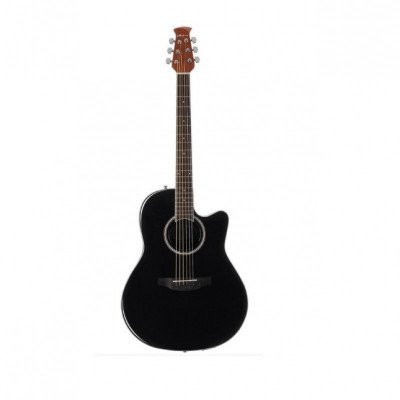 acoustic guitar - gloss black