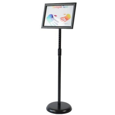 adjustable pedestal poster stand