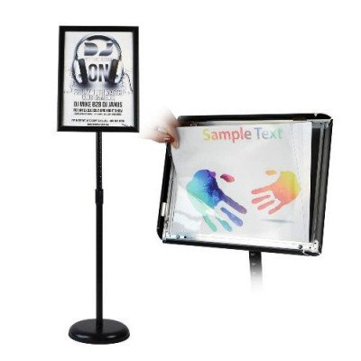 adjustable pedestal poster stand-1