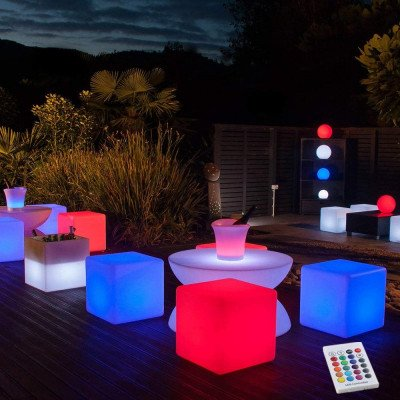 led light cube chairs