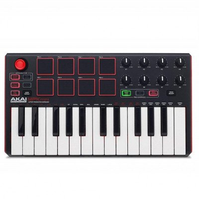 keyboard and drum pad controller with joystick-1