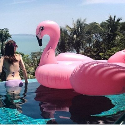 inflatable flamingo pink flamingo pool float