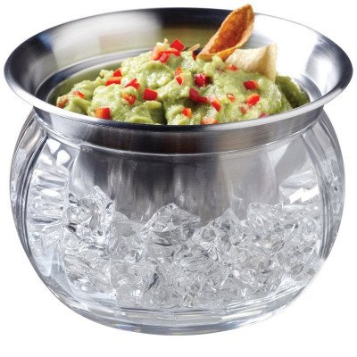 iced dip-on-ice stainless-steel serving bowl