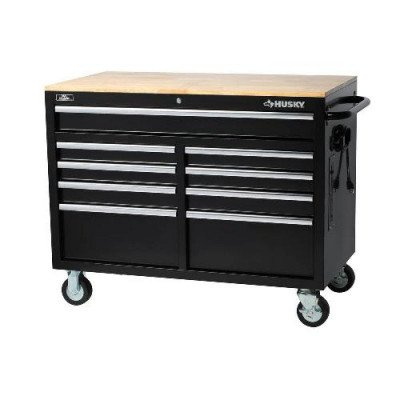 9-drawer tool chest with mobile workbench