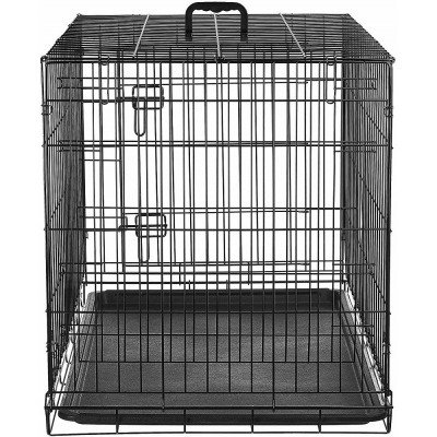 folding metal dog crate-1